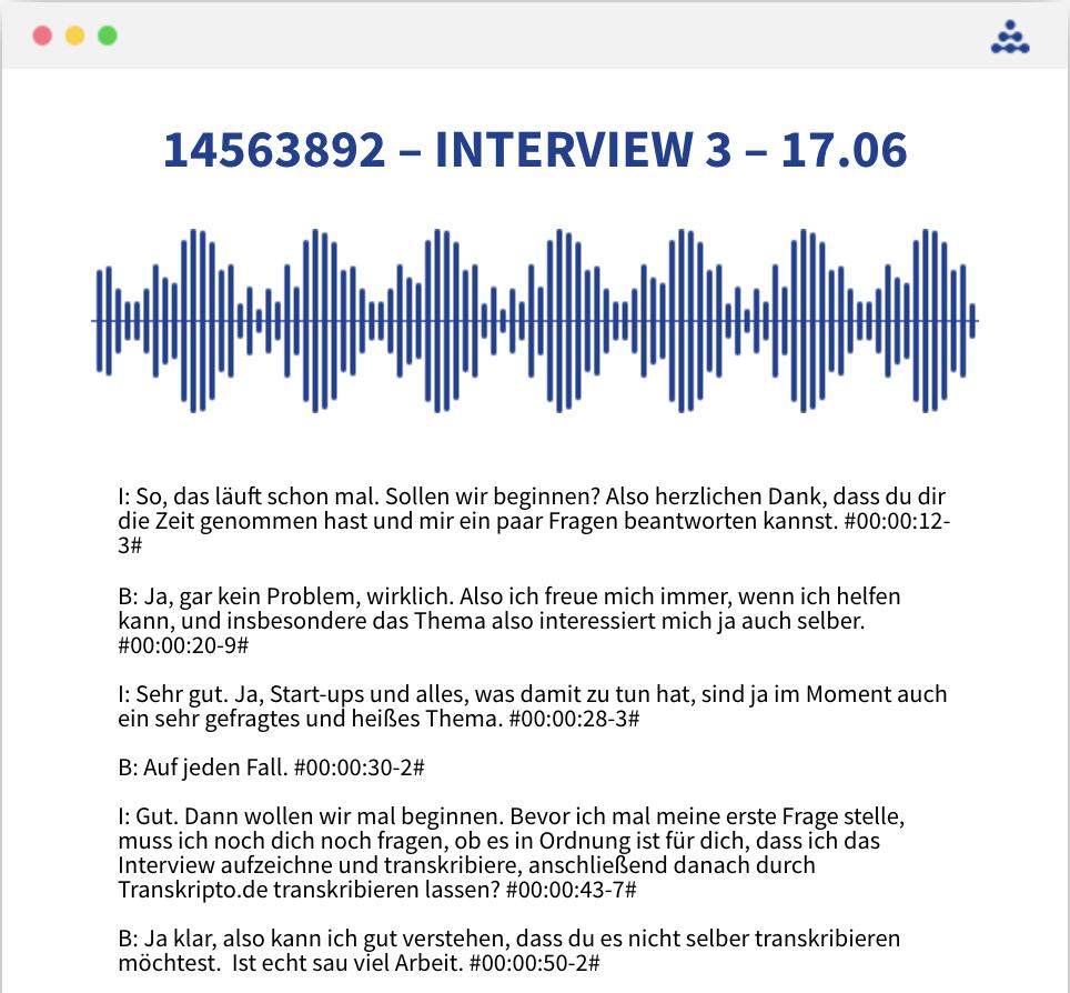 Interview transkribieren