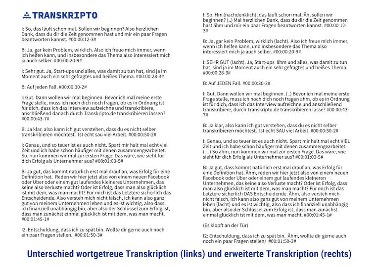 Transkriptionsregeln Vergleich